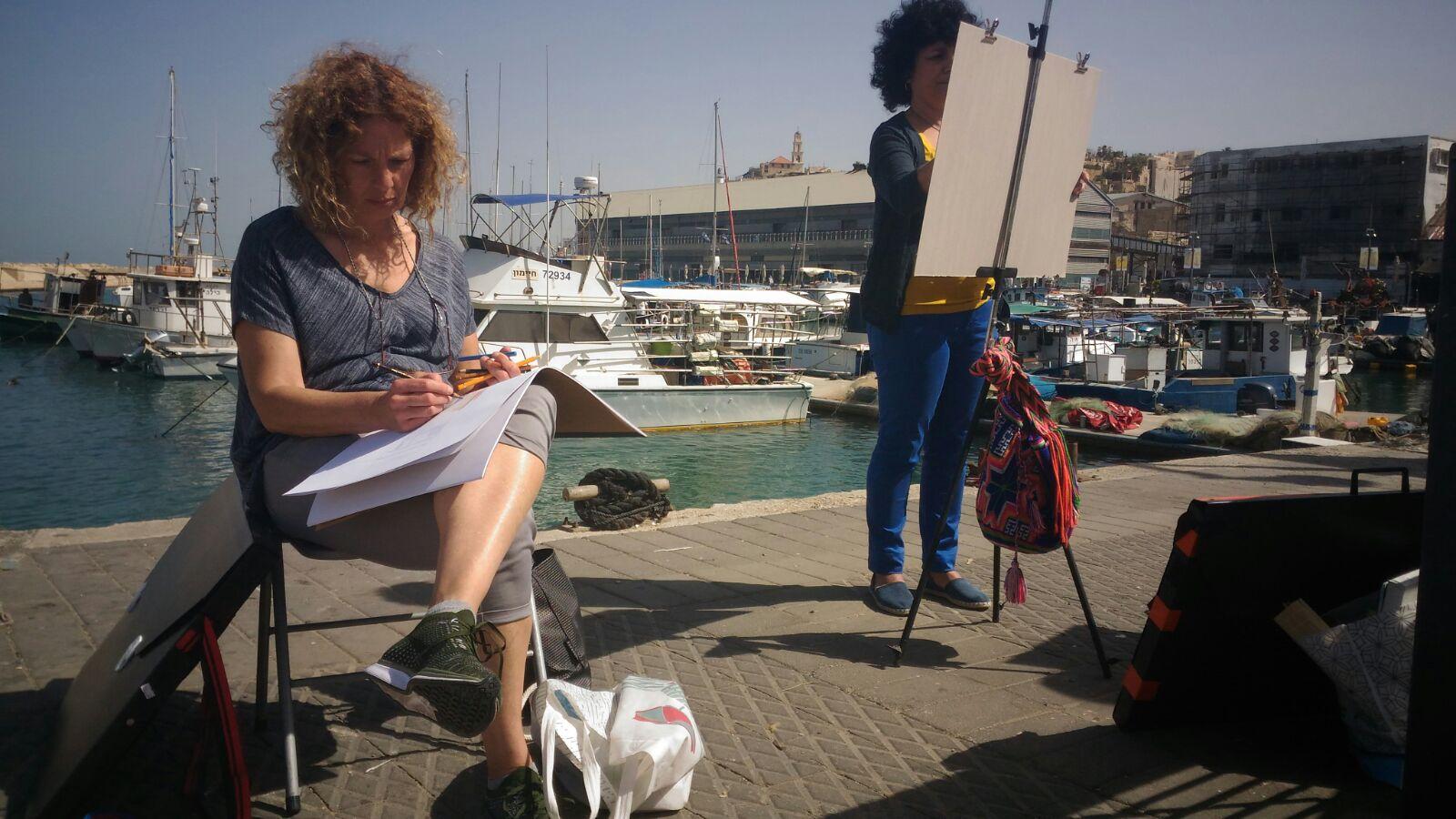 סדנת ציור בנמל יפו